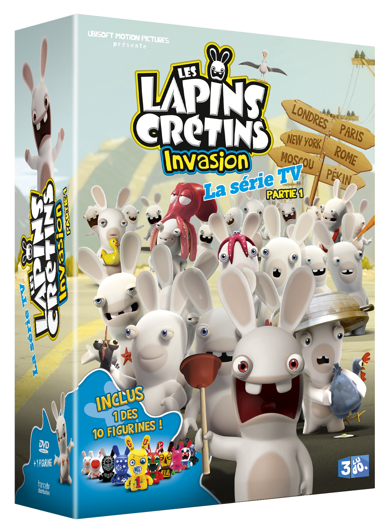 les lapins cr tins invasion test dvd saison 1 insert coin. Black Bedroom Furniture Sets. Home Design Ideas