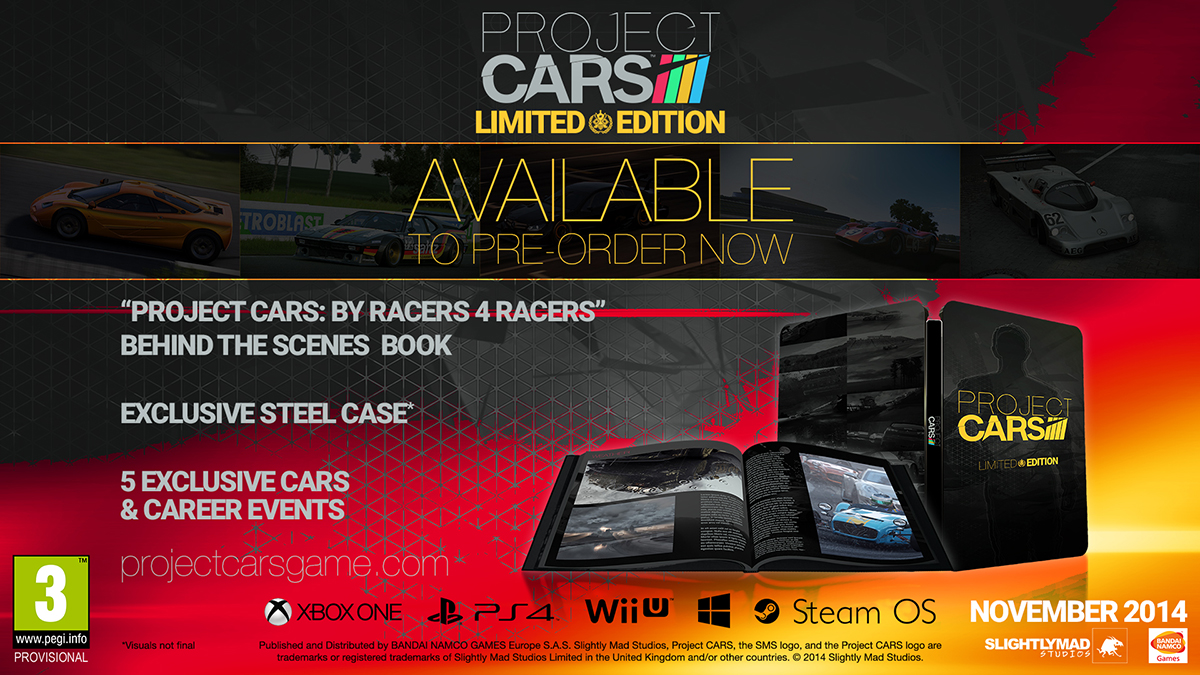 project cars edition limit e et pr commandes insert coin. Black Bedroom Furniture Sets. Home Design Ideas