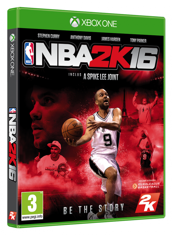 Nba2k16 tony parker sur la jaquette fr insert coin for Interieur sport tony parker