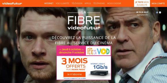 Home site Fibre videofutur