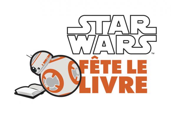Logo Star Wars Fete le Livre - Noir orange horizontal