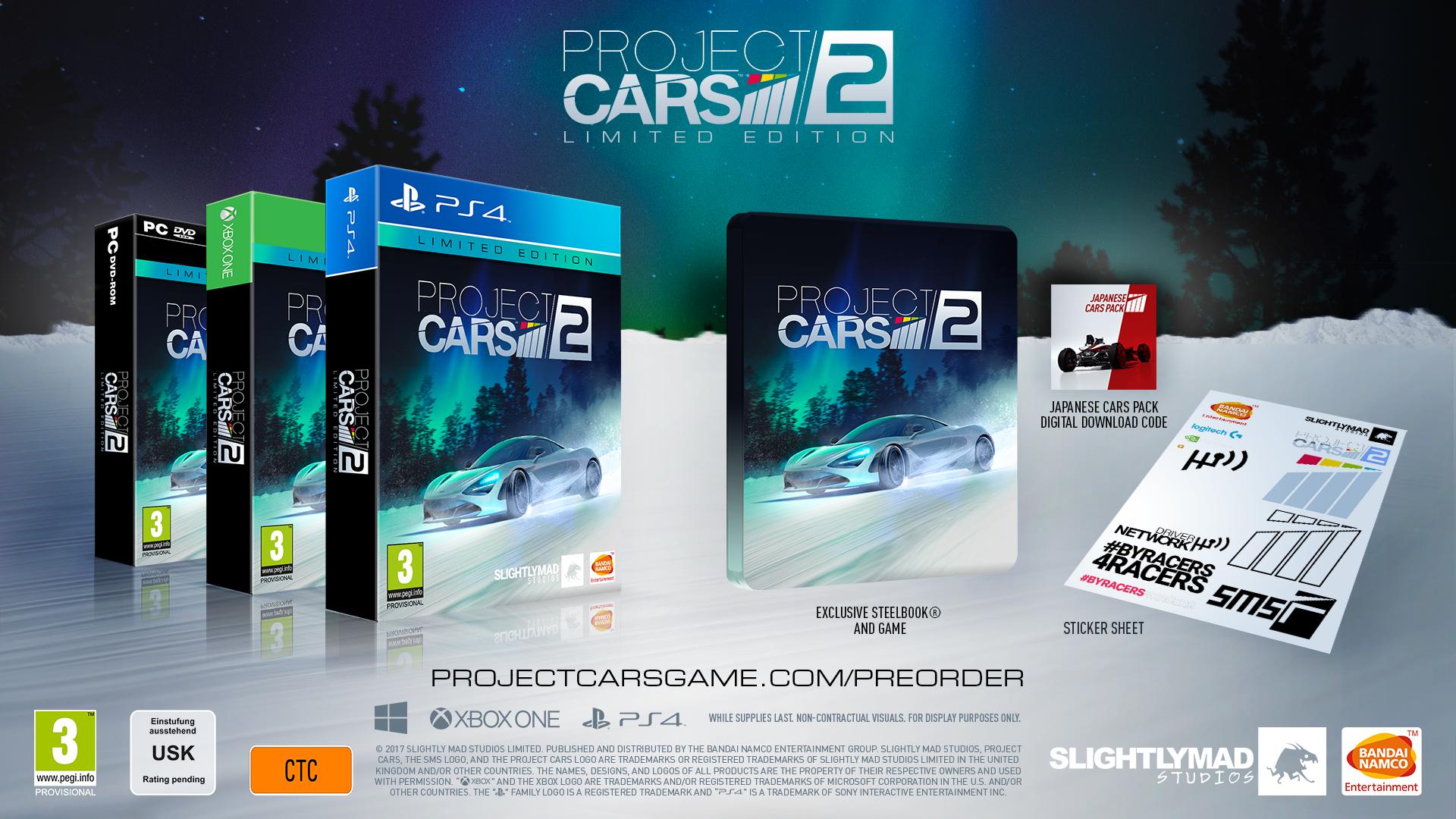 Project Cars 2 : un point sur les éditions collectors