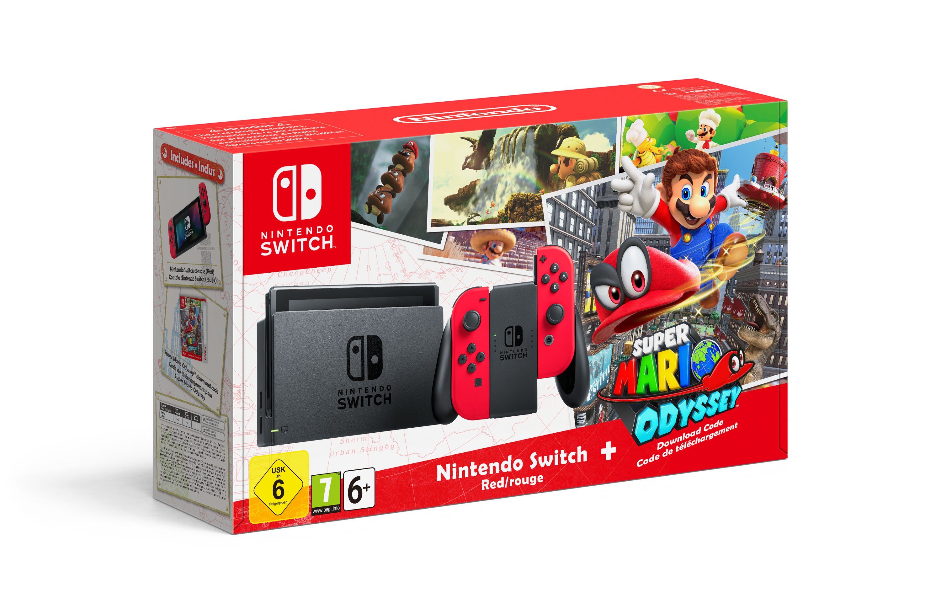 nintendo switch le pack super mario odyssey insert coin. Black Bedroom Furniture Sets. Home Design Ideas