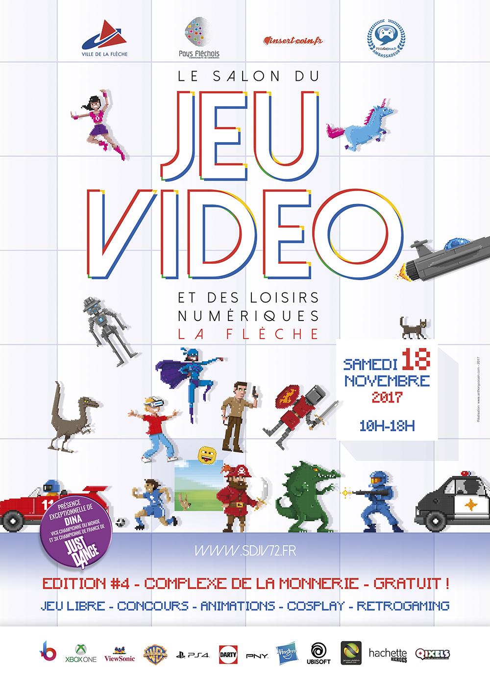 Salon du jeu vid o de la fl che 2017 infos concours for Salon du reptile 2017